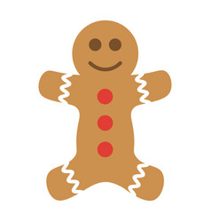 colorful gingerbread man icon vector image