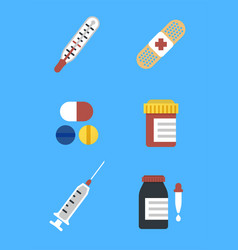 Colorful medical icons for web and mobile vector