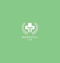 Cross justice logo design vector