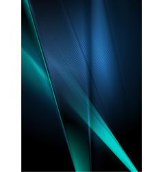 Dark deep blue abstract shiny background vector