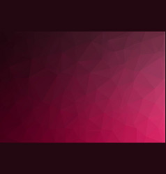 dark red abstract geometric rumpled triangular vector image