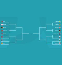 european football tournament knockout phase vector image