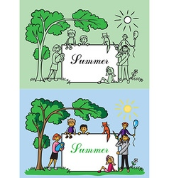 family frame summer vector image vector image