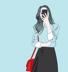 fashion of girllovely girl vector image