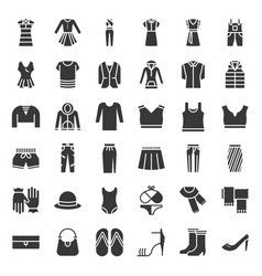 female clothes bag shoes and accessories solid vector image