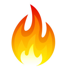 fire icon hot flame and red heat vector image