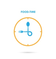 Food TimeLunch Time icon vector image