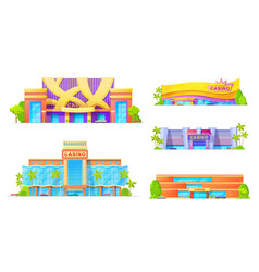 gambling game houses casino exterior facade icon vector image