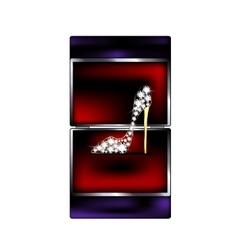 Gift box and jewel shoe vector