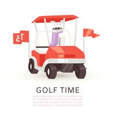 golf time cartoon poster vector image