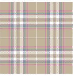 gray pastel color tartan plaid scottish pattern vector image