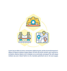 infrastructure construction concept icon with text vector image