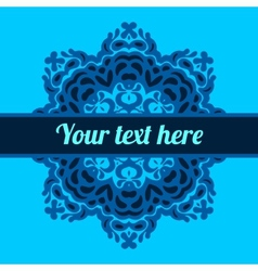 Invitation in kaleidoscopic frame background vector