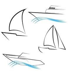 Line Yachts Symbols vector