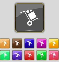 Loader Icon sign Set with eleven colored buttons vector