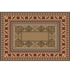 Luxurious oriental rug with original pattern vector
