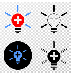 Medical lamp light eps icon with contour vector