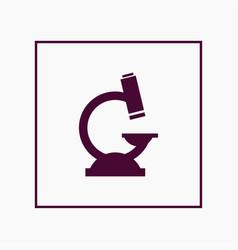 microscope icon simple vector image