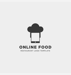 Mobile phone chef restaurant technology simple vector