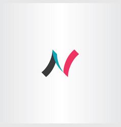 N logo icon letter symbol element vector