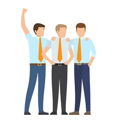 office employees in formal suits works as team vector image