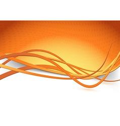 Orange swoosh speed wave background dot vector image