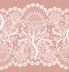 pink lace vector image