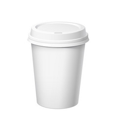 realistic disposable big plastic cup vector image