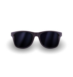 Realistic sunglasses isolated on white background vector