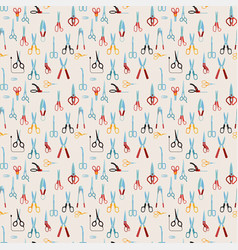 Scissors seamless pattern vector