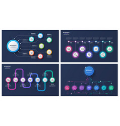 set of 7 options infographic designs vector image