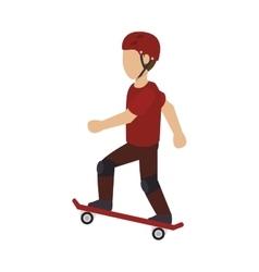 Skater man silhouette vector