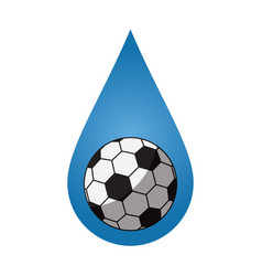 Soccer football kindness spirit water drop icon vector