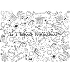 Social media coloring book vector