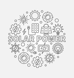 Solar power round vector