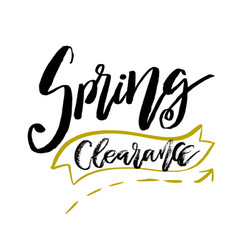 special spring clearance - hand drawn inspiration vector image