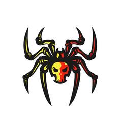 spider logo vector image