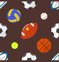 Sport balls seamless pattern vector