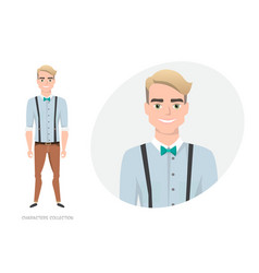 stylish young man in casual clothes vector image
