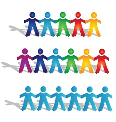 Teamwork groups of people vector image