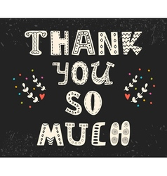 Thank you so much postcard with funny design vector