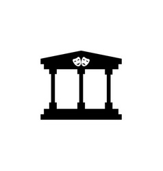 theater building icon vector image