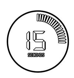 Time and clock line icon design vector image