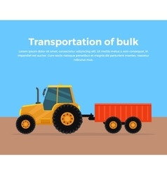 Transportation of Bulk Banner Design vector