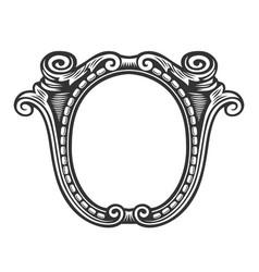vintage frame border label vector image