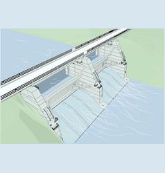 Water dam vector