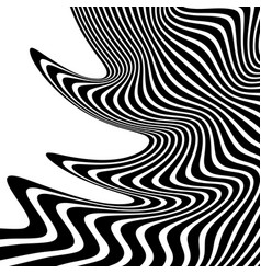 Wavy waving lines lines stripes with distortion vector