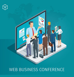 web conference banner vector image
