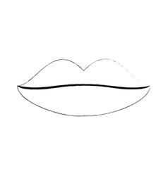 woman sexy lips vector image