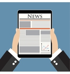 Businessman reading news vector image vector image